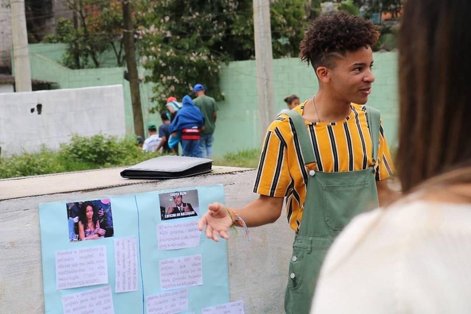o jovem ativista bruninho souza