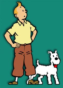 ilustração do personam tintim