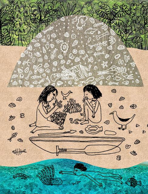ilustração para uma revista feita por mariana maasarani