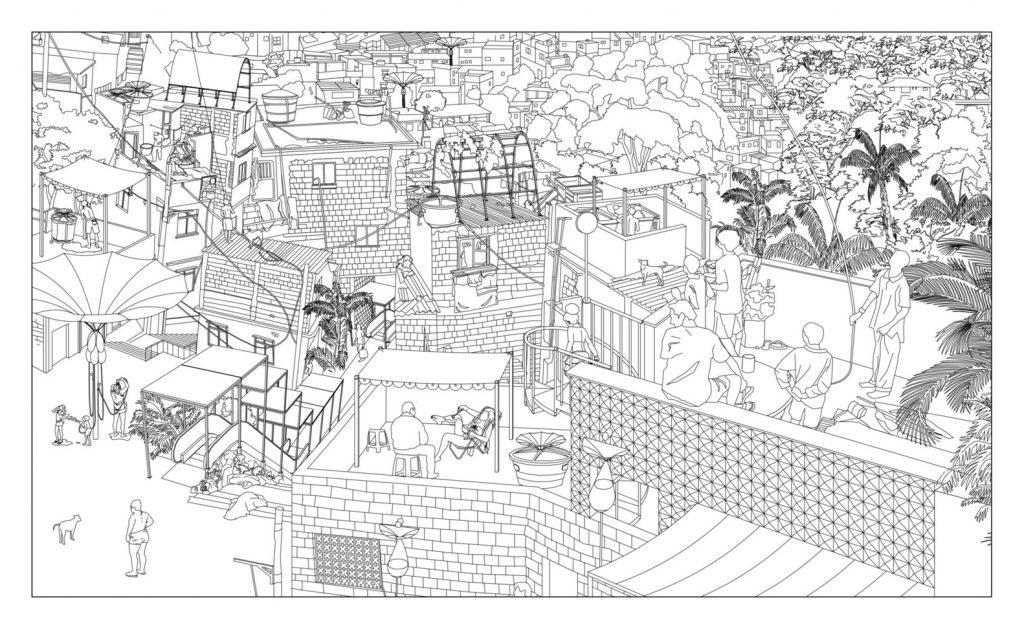 planta desenhada de urbanismo tático