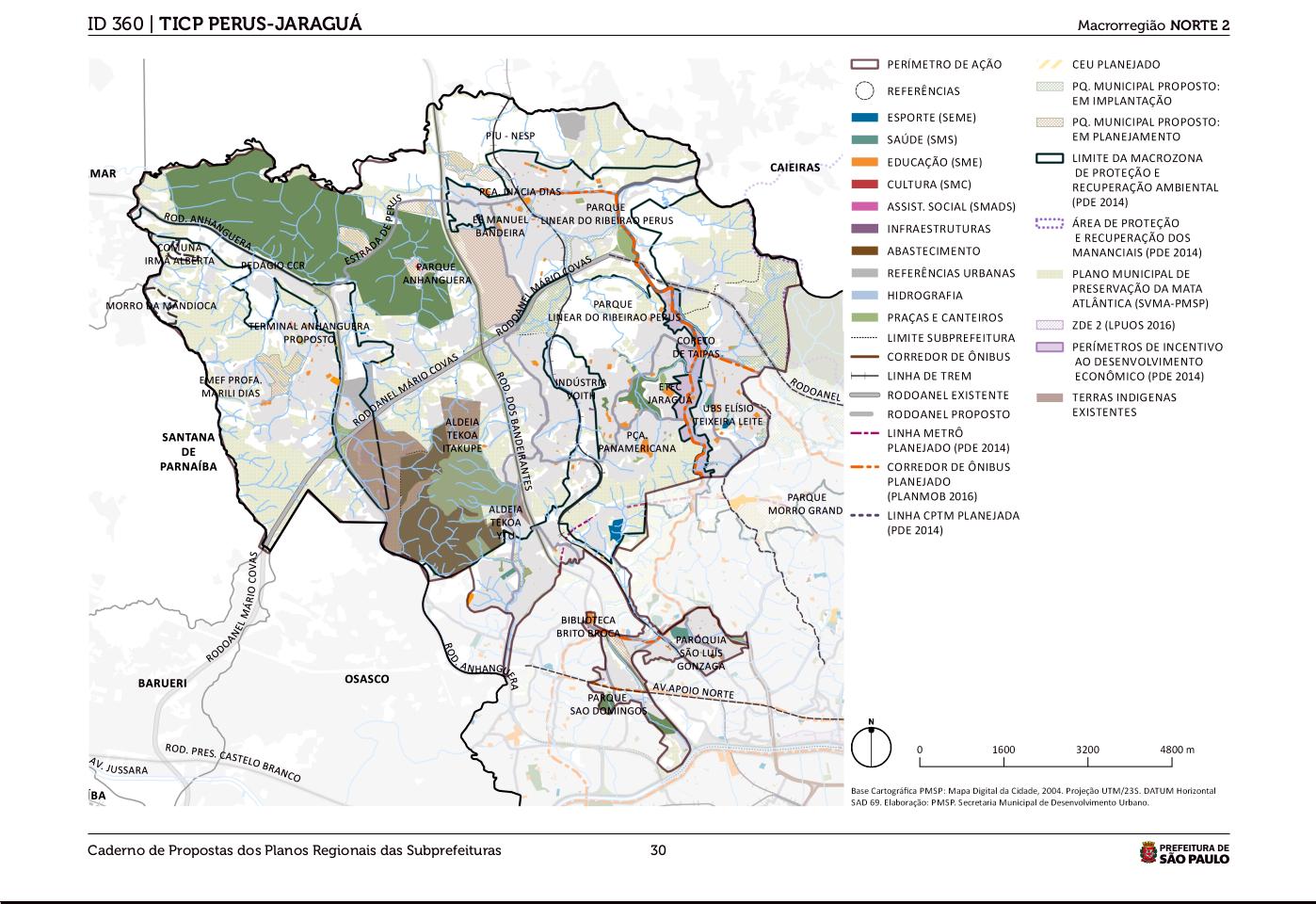o mapa do ticp jaraguá perus