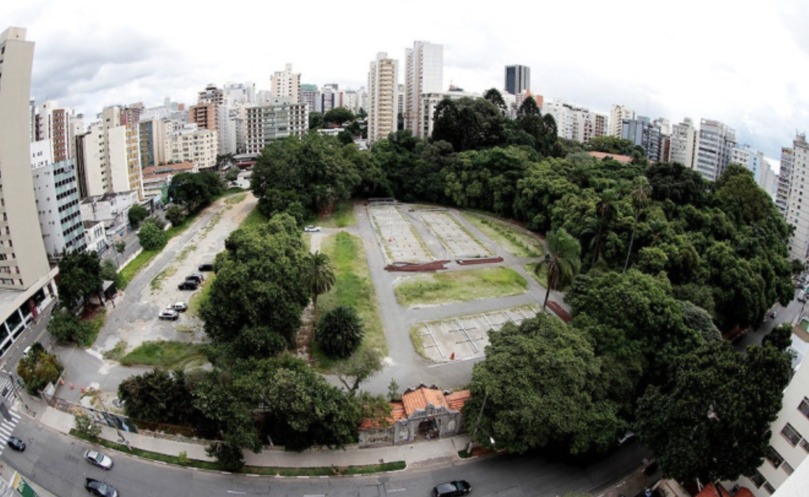 imagem área do futuro parque augusta em são paulo