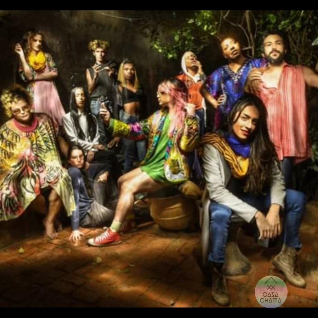 Arte da equipe que cuida da Casa Chama | Foto: Reprodução