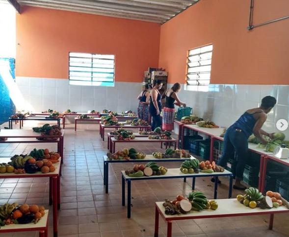 Projeto une escola e agricultores para levar comida às famílias vulneráveis