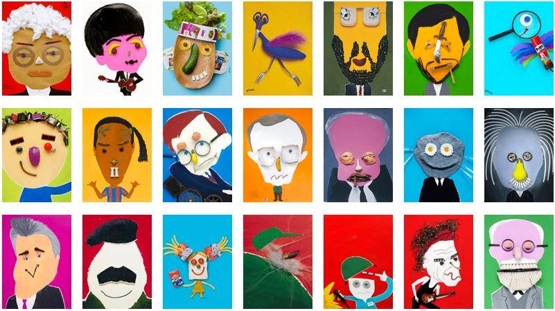 Colagens do artista Hanoch Piven / Crédito: Divulgação