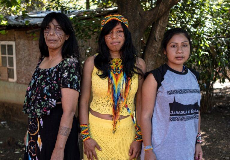 integram a foto e a disputa o mandato coletivo Jaraguá é Guarani