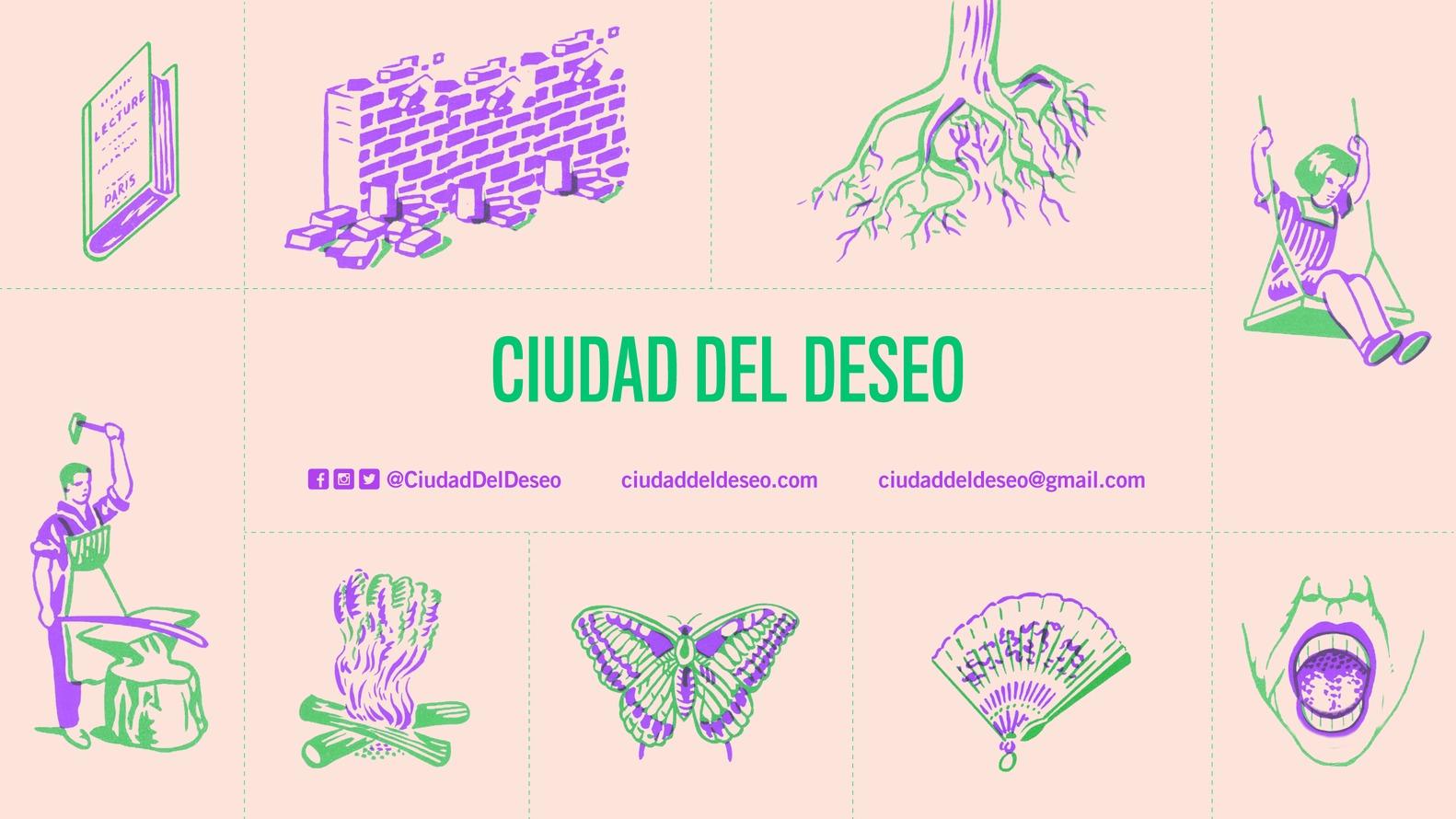 cartaz rosado do coletivo argentino ciudad del deseo