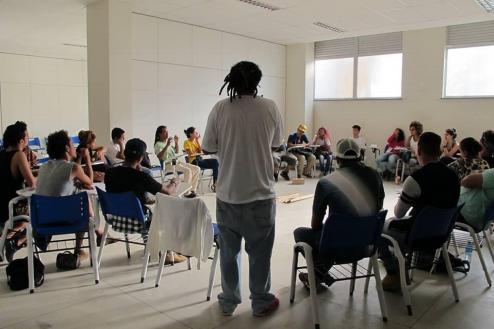 Imagem do #crjénosso, primeiro seminário realizado para a eleição do comitê gestor e para a discussão da gestão do espaço Crédito: Bruno Vieira / registro pessoal